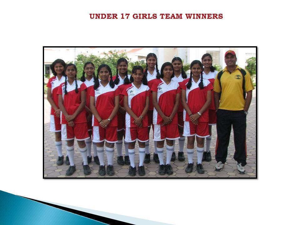 UNDER 17 GIRLS TEAM WINNERS