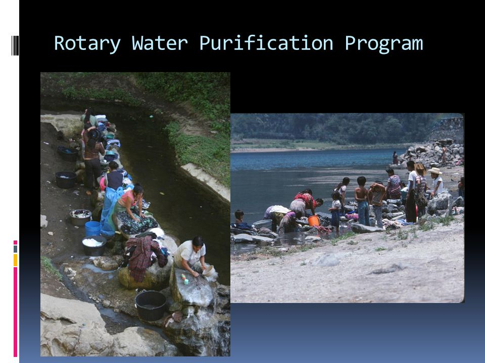 Rotary Water Purification Program