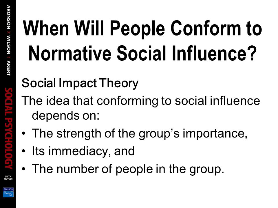 When Will People Conform to Normative Social Influence.