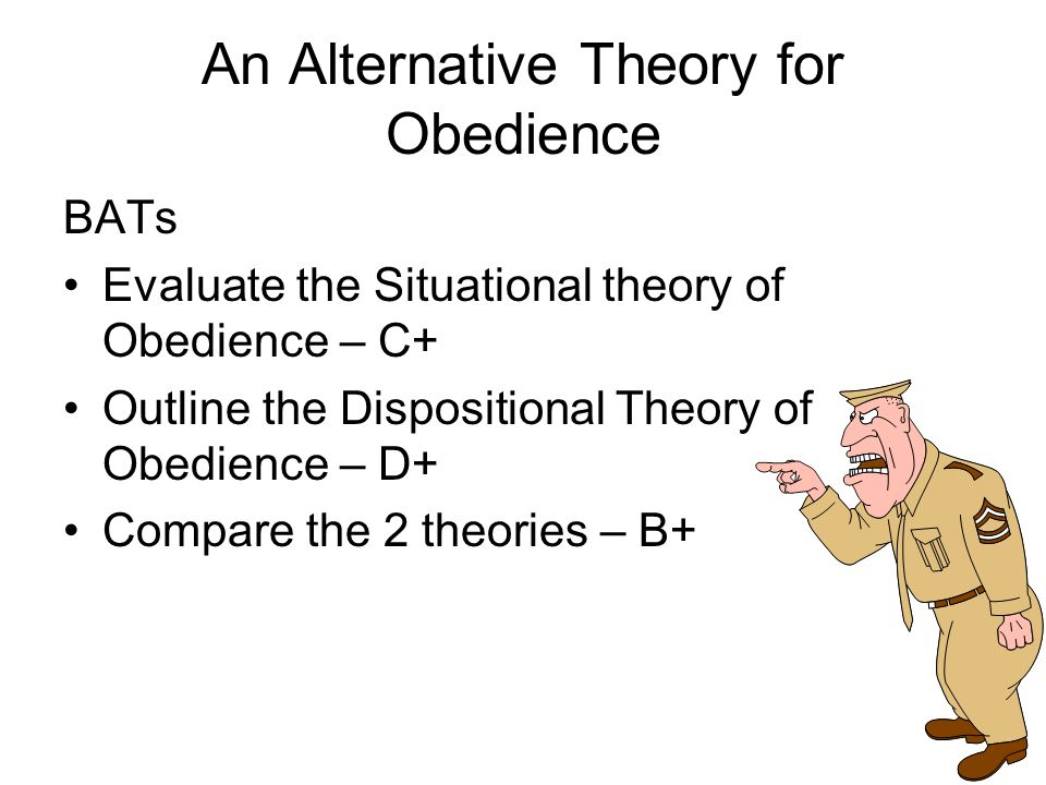 Plenary Share creations Extension – What are the differences between dispositional and situational factors in obedience?