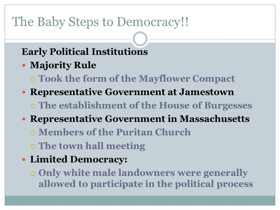 The Baby Steps to Democracy!.