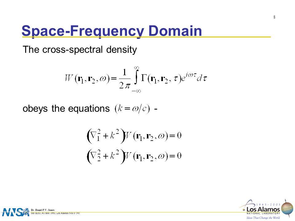 Dr. Daniel F.V. James MS B283, PO Box 1663, Los Alamos NM 87545 9 Solution (secondary sources) A