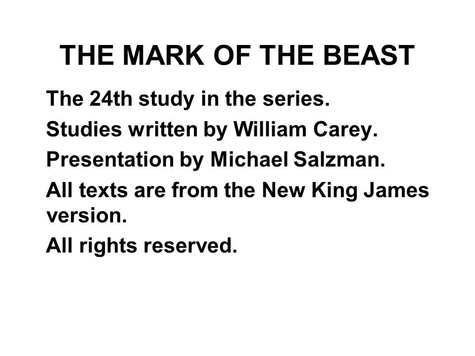 The 24th study in the series.Studies written by William Carey.
