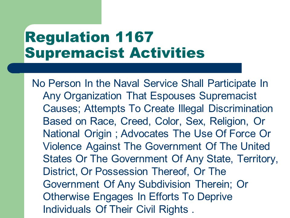 Regulation 1165 Fraternization Prohibited Personal relationships between officer and enlisted members that are unduly familiar and that do not respect differences in grade or rank are prohibited.