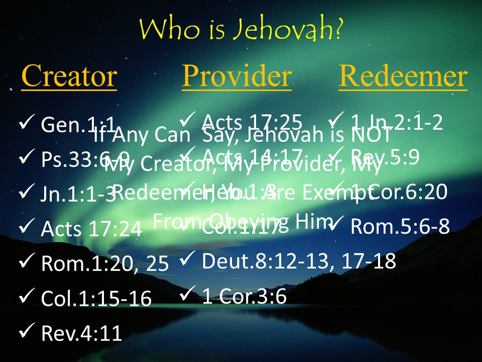Who is Jehovah.