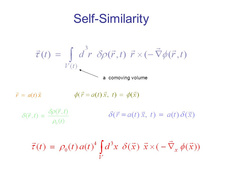 Self-Similarity a comoving volume