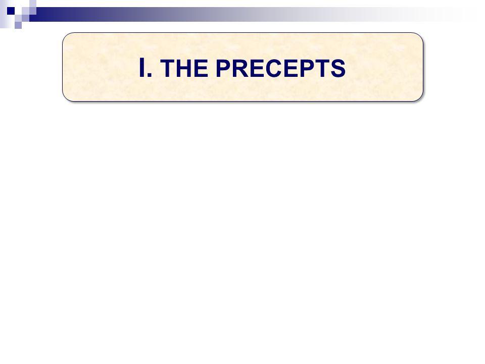 I. THE PRECEPTS