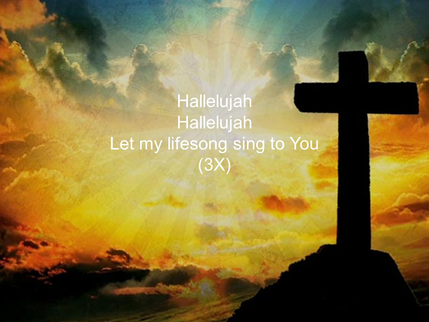 Hallelujah Let my lifesong sing to You (3X)