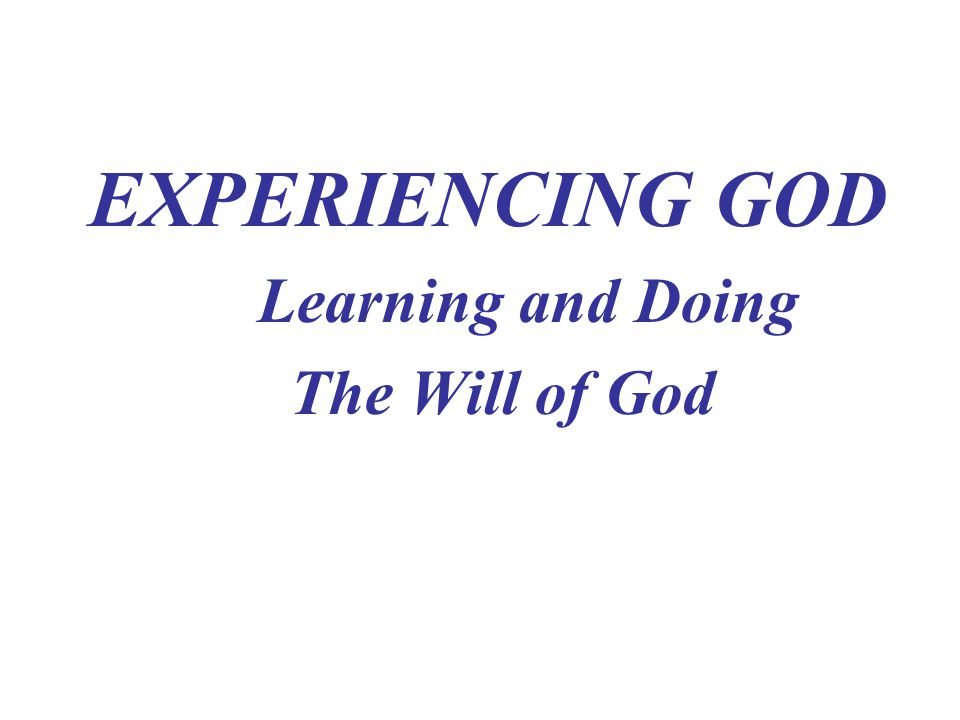 God Speaks-Discovering the Will of God I.THE CHARACTER OF GOD'S WILL A.God's Plan is definite.