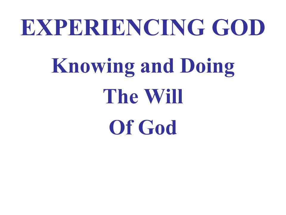 Getting In…Going On Principle #6 in Elijah's Life I KINGS 17 I.GOD'S RECOGNIZED PLAN II.