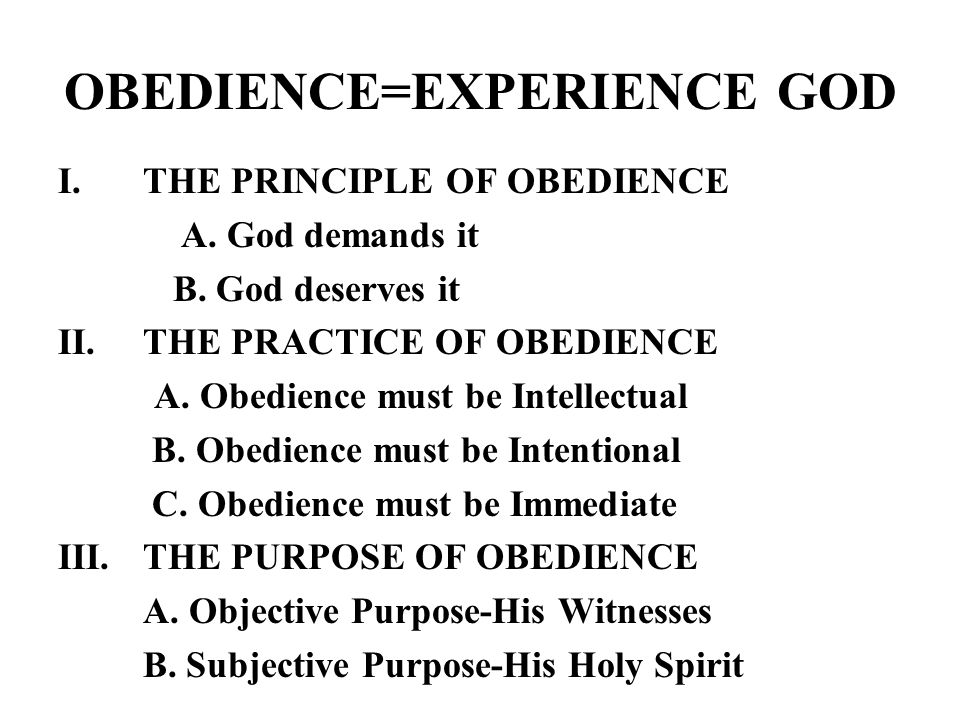 Disobedience Is Costly 1.JONAH- A WHALE OF A RIDE 2.MOSES- 40 YEARS IN WILDERNESS 3.DAVID- ONE SON DIED AND THREE OTHER FAMILY TRAGEDIES