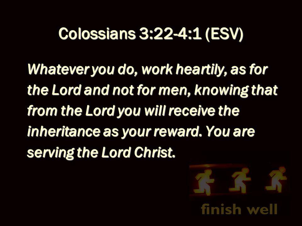 Bottom Line: Work is worship!Work is worship!