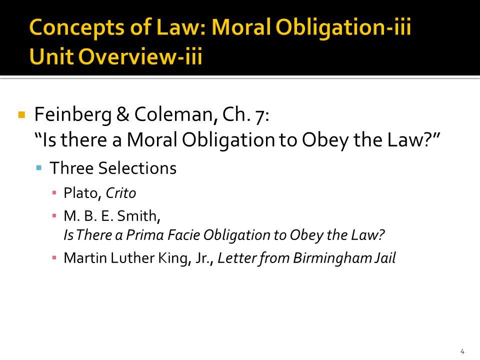  Feinberg & Coleman, Ch.