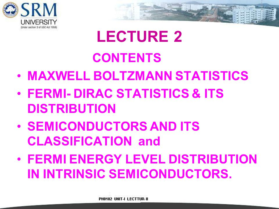 Maxwell Boltzmann Statistics (Classical law) This law states that, the total fixed amount of energy is distributed among the various members of an assembly of identical particles in the most proable distribution.