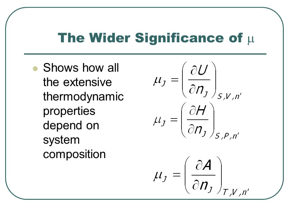 Activities of Pure Solids/Liquids The chemical potential is essentially invariant with pressure for condensed phases