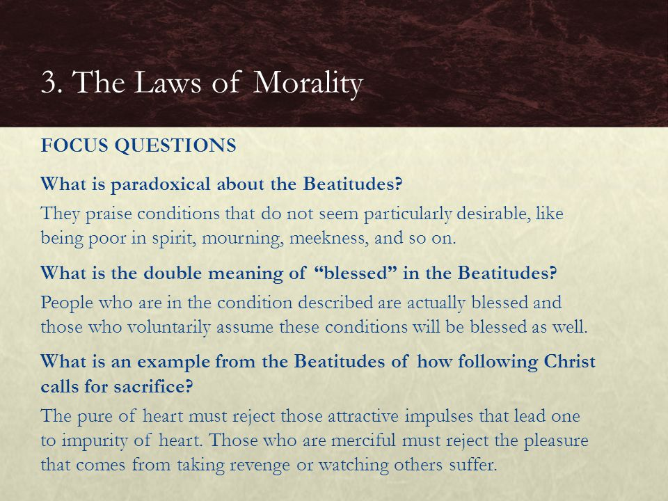 What is paradoxical about the Beatitudes.