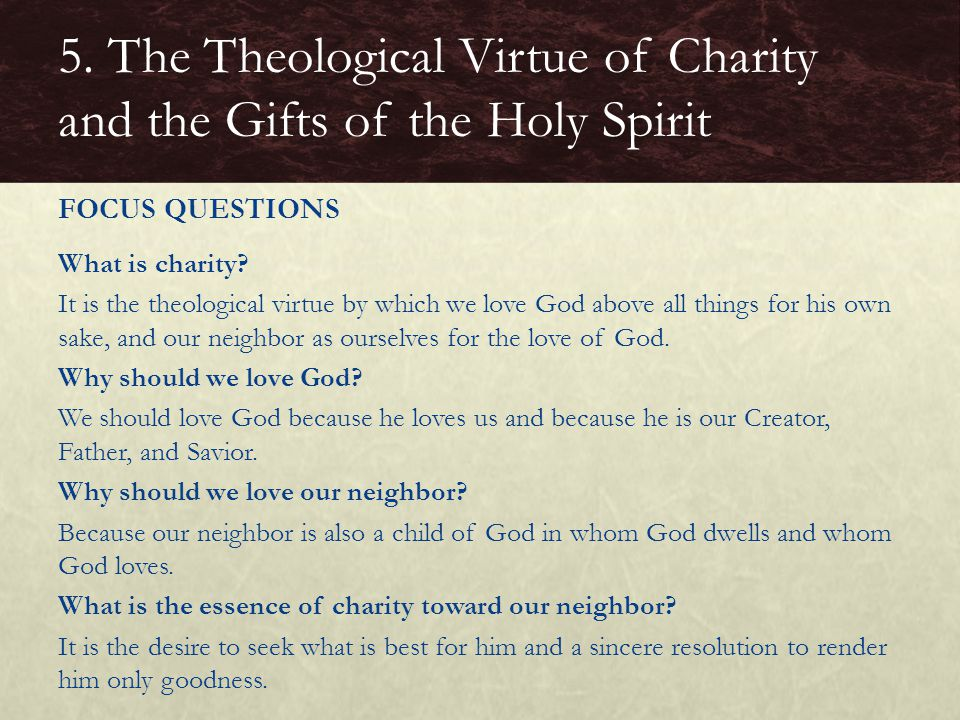 What is charity.