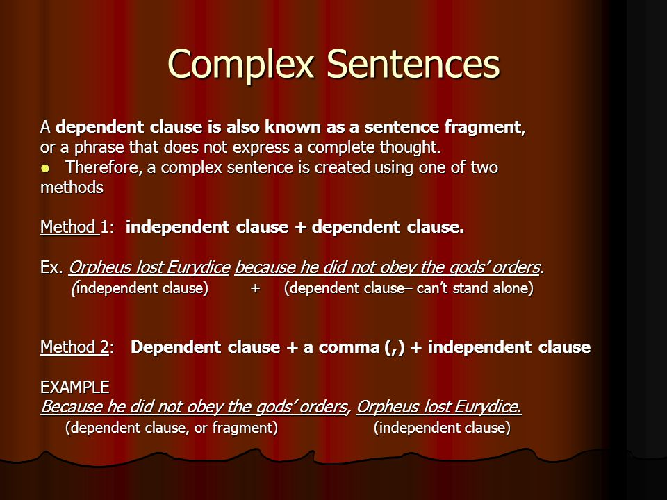 Helpful Hints Hint #1: Complex Sentences often show cause-and-effect in your writing.
