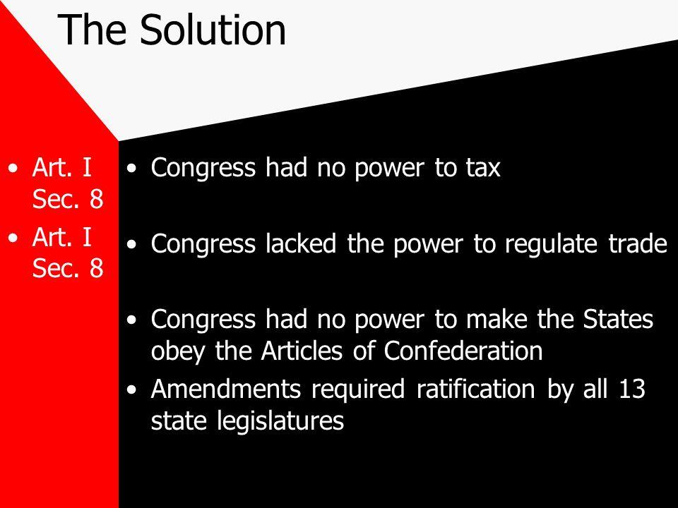 The Solution Art.I Sec.