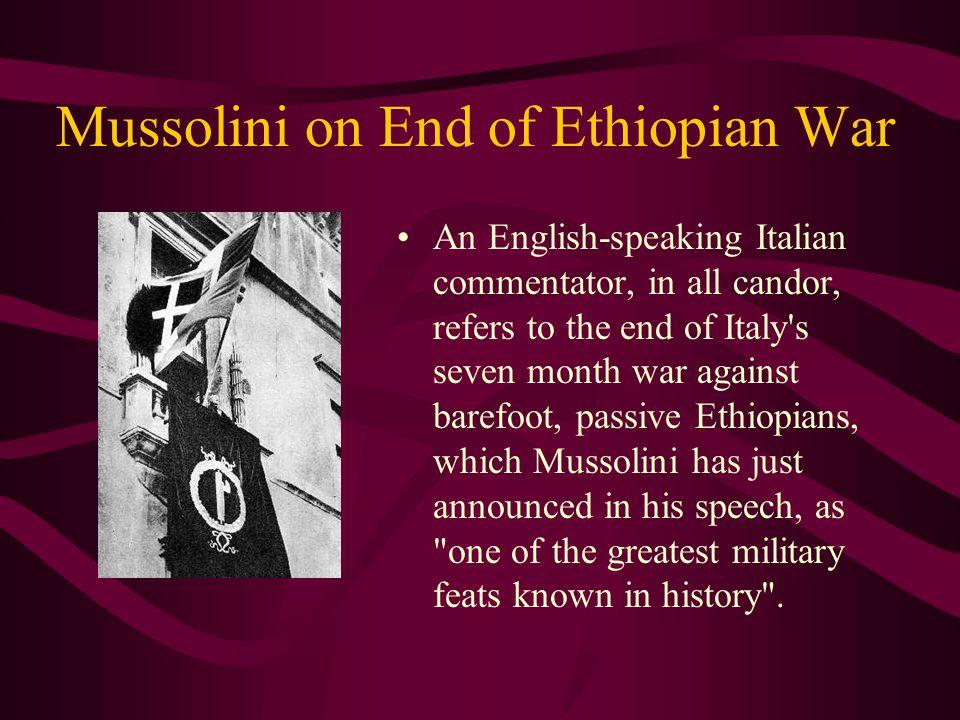 Benito Mussolini Established a Fascist dictatorship in Italy.