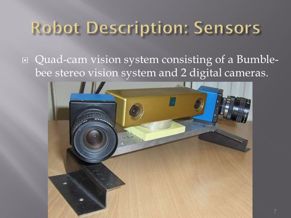  Sensors: : Green rounded rectangle  Processors: : Violet rectangle : Gold rectangle : Blue rectangle  Actuators: : Black oval SteerRobudem Sensors BehaviorProcessors VisualProcessors Positioning & Mapping 8