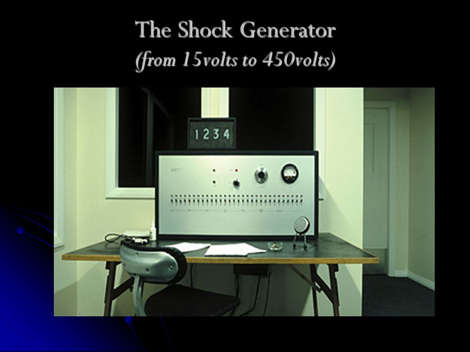 The Shock Generator (from 15volts to 450volts)