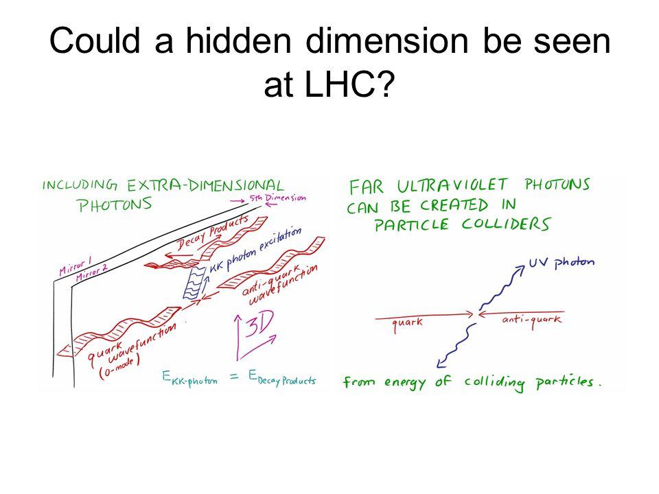 Could a hidden dimension be seen at LHC?
