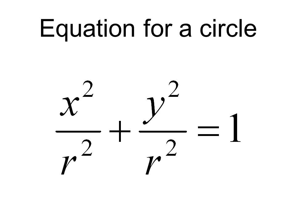Equation for a circle