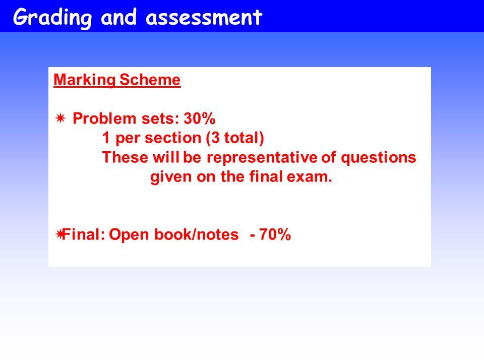 Final: Open book/notes - 70%