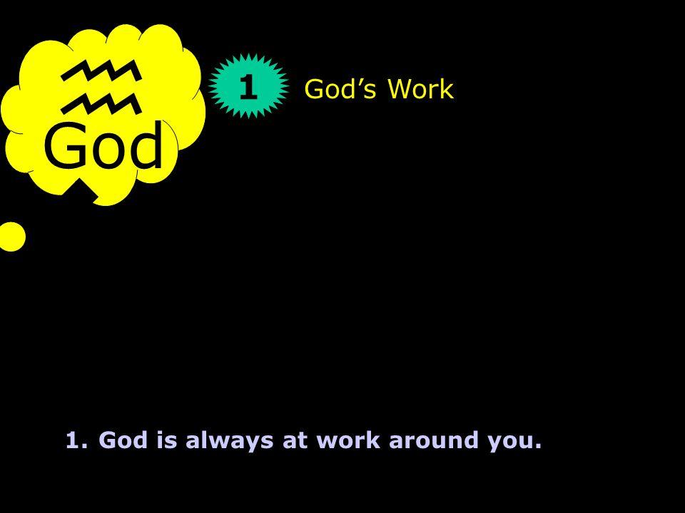God hwhyhwhy 1 God's Work 1.God is always at work around you.