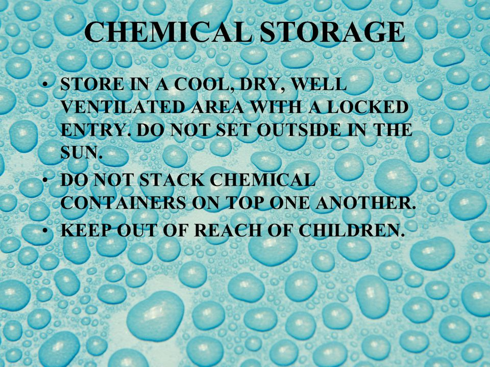 TRANSPORTING CHEMICALS KEEP VEHICLE CLEAN & ORGANIZED.