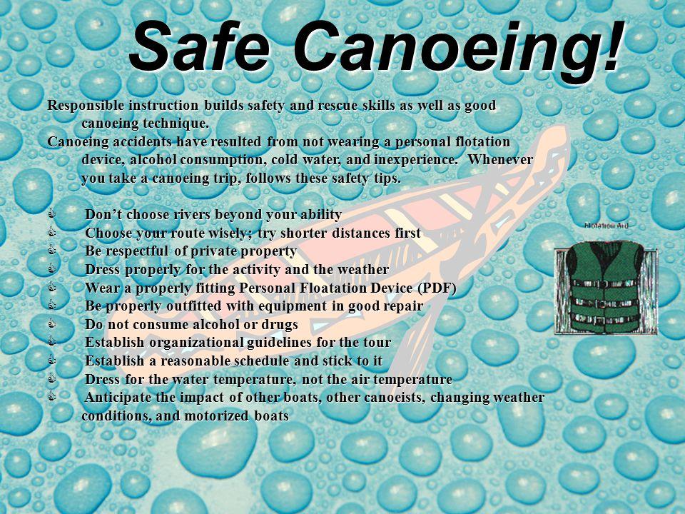 Safe Kayaking.