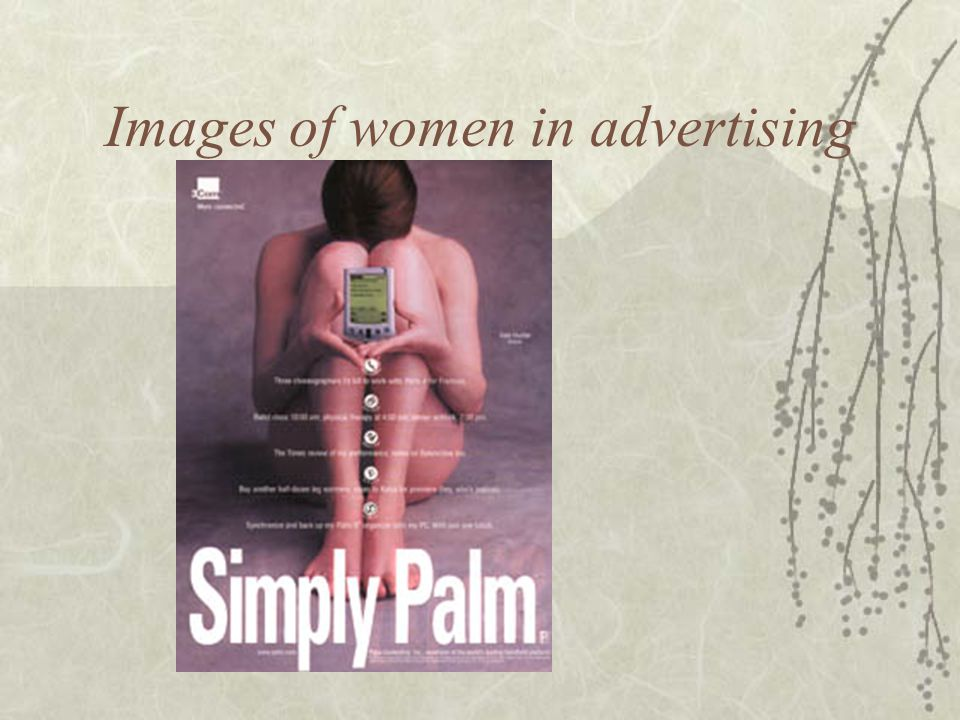 Images of women in advertising