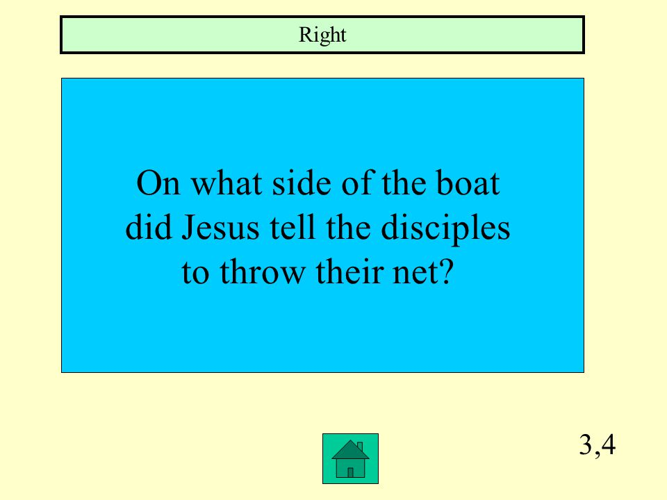 3,3 Before Jesus spoke to the disciples that morning, on what side of the boat were the men fishing on.