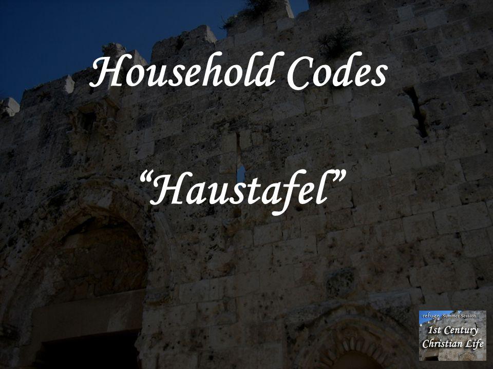 """Household Codes """"Haustafel"""""""