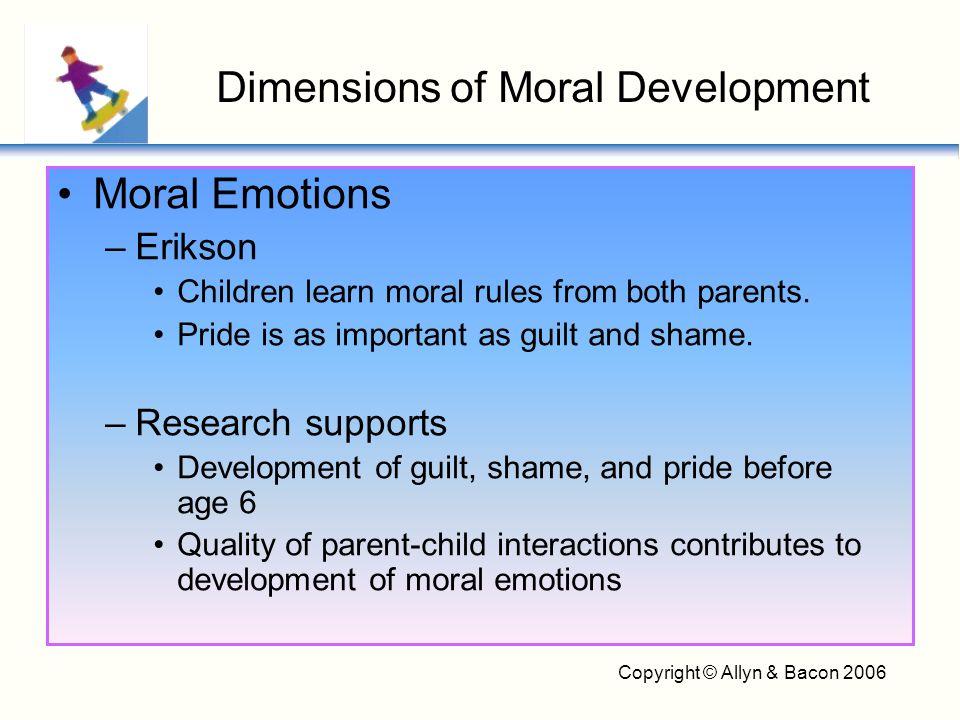 Copyright © Allyn & Bacon 2006 Prosocial behavior enhanced by quality programs that teach children moral and social values –Mr.