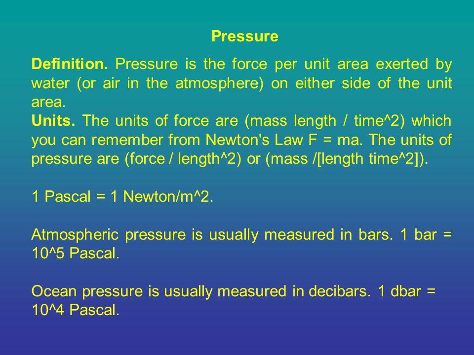 Pressure Definition.