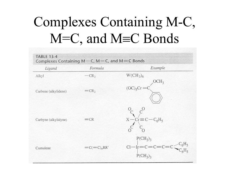 Complexes Containing M-C, M=C, and M  C Bonds