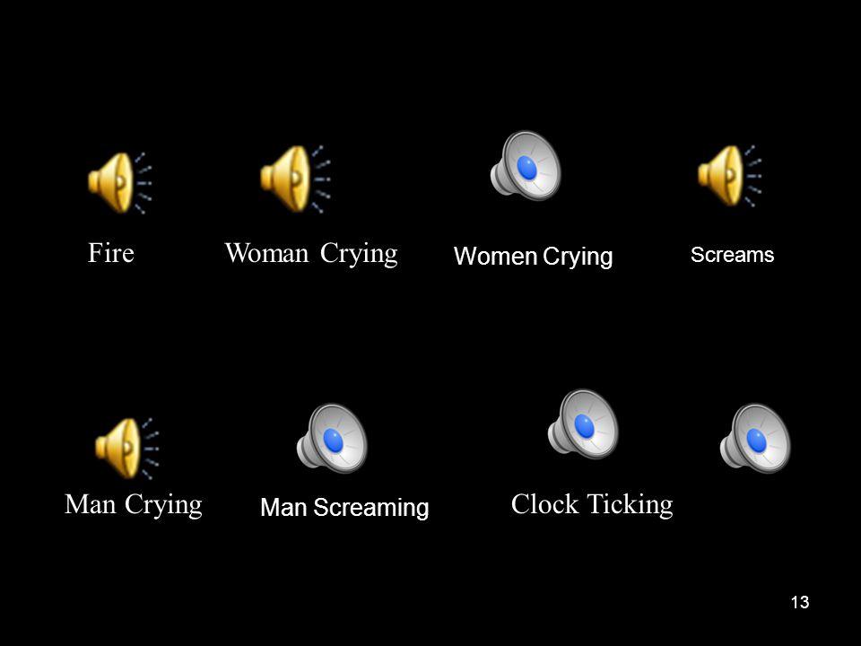13 Clock TickingMan Crying Man Screaming Screams Women Crying Woman CryingFire