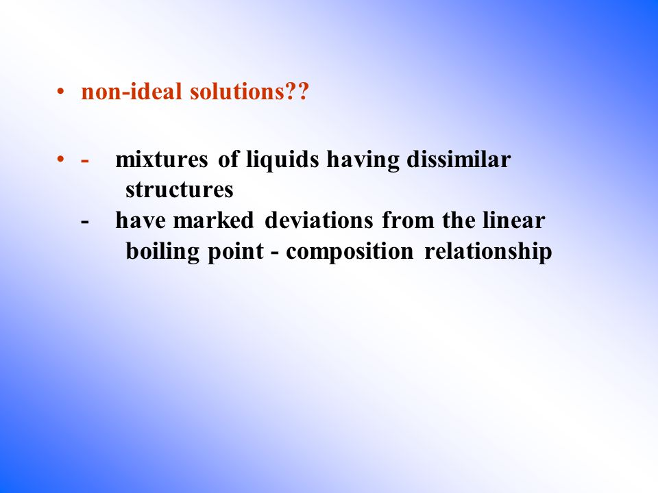 21.2 Raoult s Law for Ideal Solutions states that the vapour pressure of a component in a mixture at a given temperature is directly proportional to its mole fraction, and is equal to the product of its mole fraction and the vapour pressure of the pure component at that temp.
