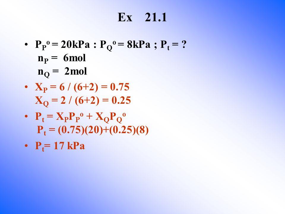 Ex 21.1 P P o = 20kPa : P Q o = 8kPa ; P t = .