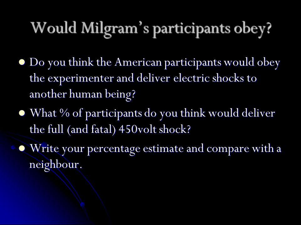 Milgram's Obedience research