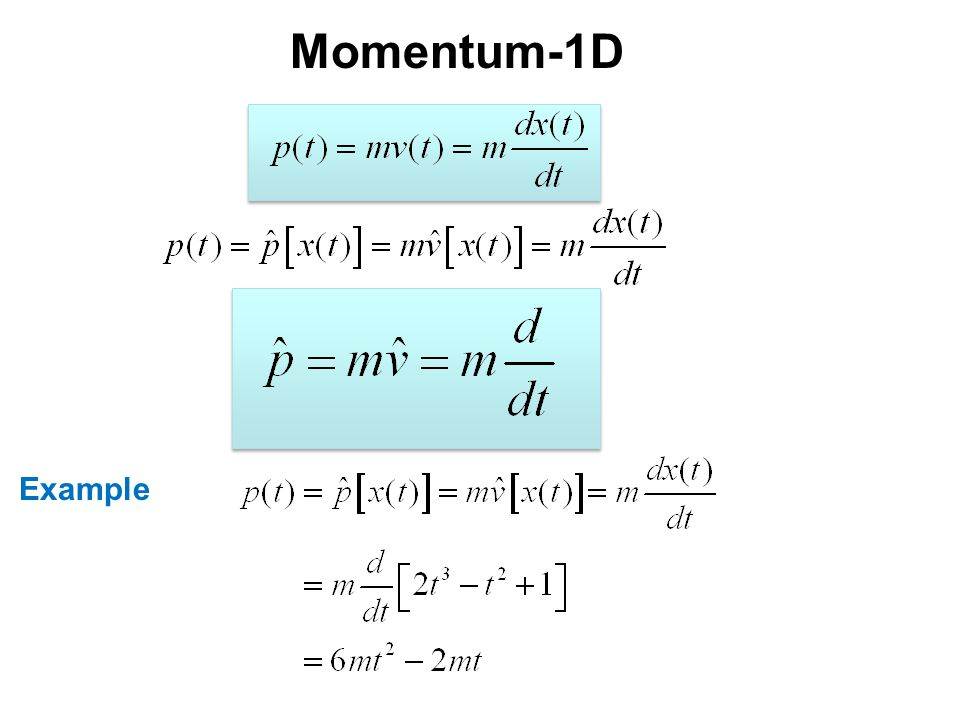 Momentum-1D Example