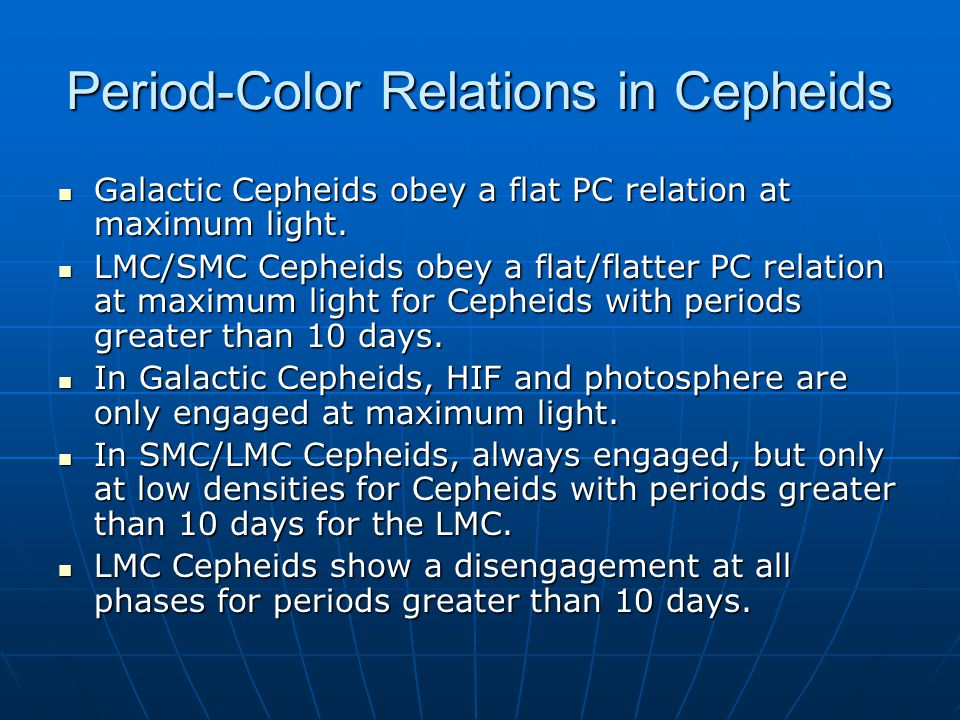 Period-Color Relations in Cepheids Galactic Cepheids obey a flat PC relation at maximum light.