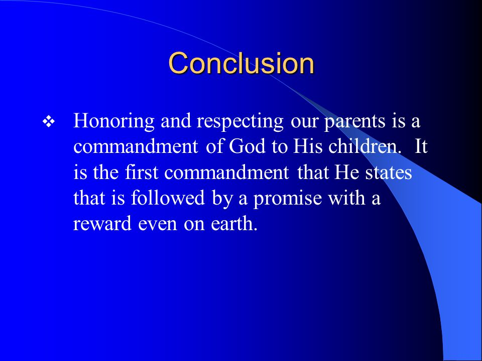 Questions.1. Why did the Lord command that man should honor his parents.