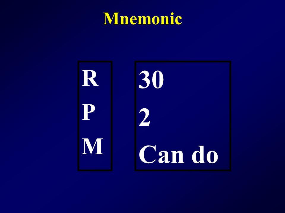 Mnemonic RPMRPM 30 2 Can do
