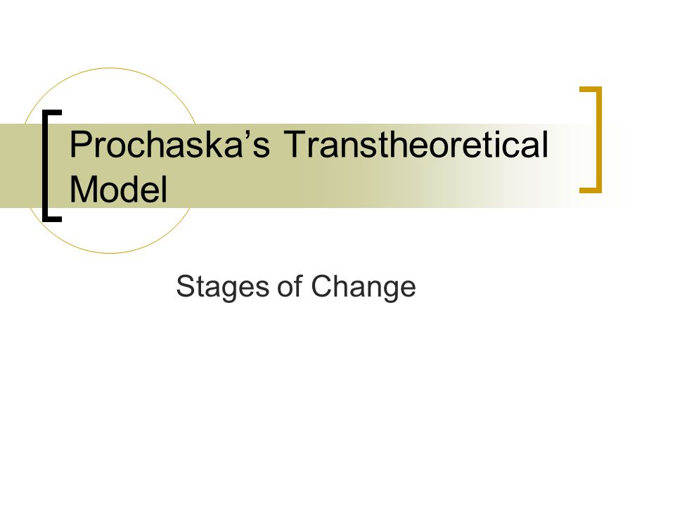 Prochaska's Transtheoretical Model Stages of Change