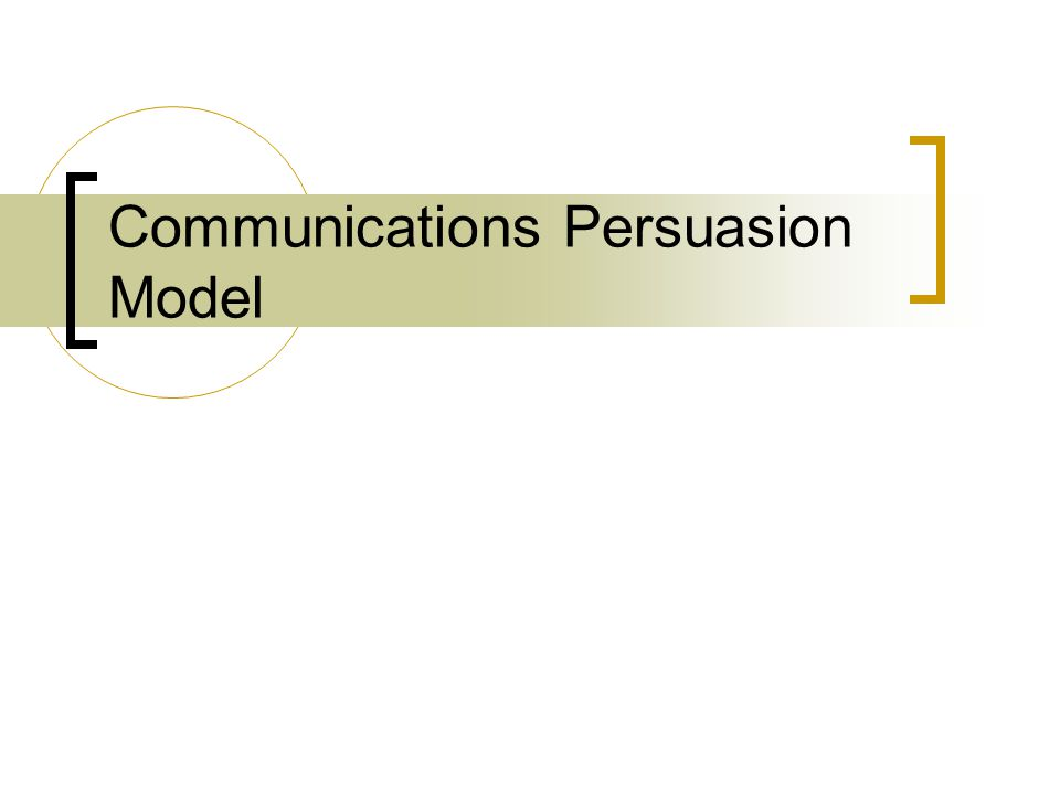Communications Persuasion Model
