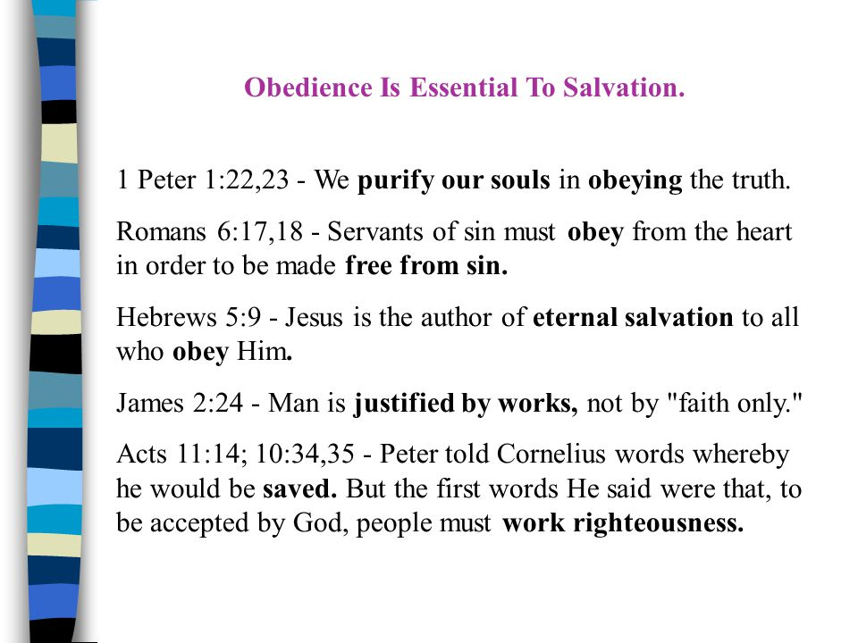 Many Things Are Essential to Salvation.