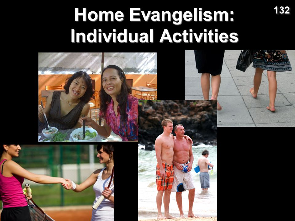 Home Evangelism: Individual Activities 132